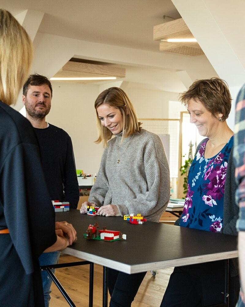 Legoübungen beim Newworkshop mit quäntchen + glück