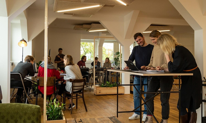 Gruppenarbeit als Methode beim Newworkshop bei quäntchen + glück